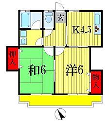 パーム夏見台[2階]の間取り