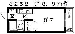 プチメゾン滝谷[102号室号室]の間取り
