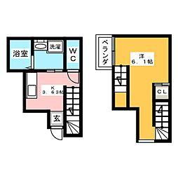 D−CASA文化町[1階]の間取り