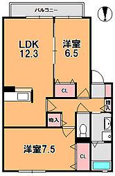 カーサフルーレII[2階]の間取り