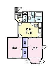 ドミールソレイユ[1階]の間取り