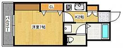 ロックフィル瀬下[4階]の間取り