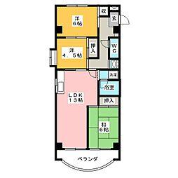 メゾンド・リオン今伊勢[4階]の間取り