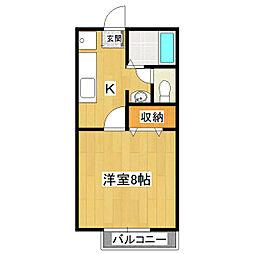 リバティーハウス桜A[103号室]の間取り