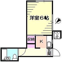 グリーンコーポ[1階]の間取り