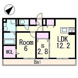 (仮称)D-room青地町ハイツ[3階]の間取り
