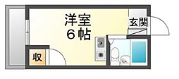 広島県福山市船町の賃貸マンションの間取り