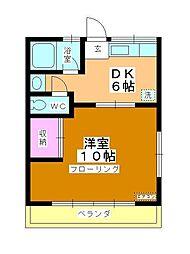 コーポ町田[201号室]の間取り