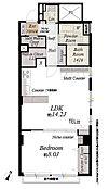 間取図/専有面積59.24m2 6階部分東南角部屋明治通り沿いのマンションですが、お部屋は通りと反対側です。