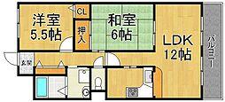 グランドゥール武庫之荘2[2階]の間取り