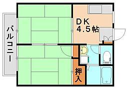ファミールコート B[2階]の間取り