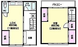 [一戸建] 東京都台東区鳥越1丁目 の賃貸【/】の間取り