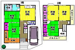 [一戸建] 大阪府富田林市西板持町8丁目 の賃貸【/】の間取り