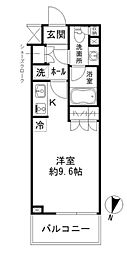 都営新宿線 森下駅 徒歩18分の賃貸マンション 1階ワンルームの間取り