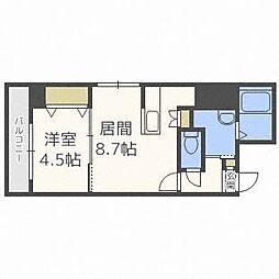 北海道札幌市中央区北一条西10丁目の賃貸マンションの間取り