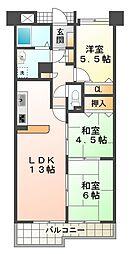 ホーユウパレス神戸塩屋[2階]の間取り