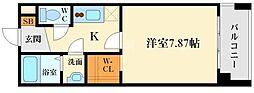 大阪府吹田市江坂町1丁目の賃貸マンションの間取り