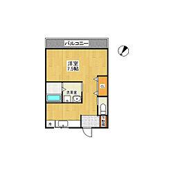 ヨコタビル[2階]の間取り