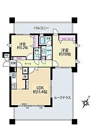 シーアイコート東戸塚[2階]の間取り