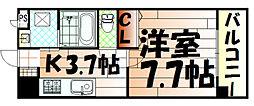 福岡県北九州市小倉北区東篠崎3の賃貸マンションの間取り