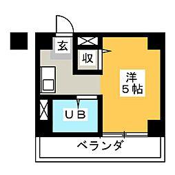 プラザ・ドゥ・スプライト[4階]の間取り