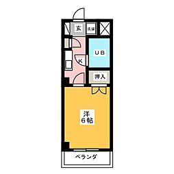 CASANOAH名古屋Ⅲ[6階]の間取り