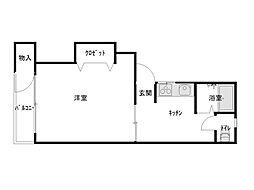 たんぽぽ12号館[101号室]の間取り