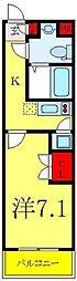 ビバリーホームズ下赤塚 地下1階1Kの間取り