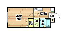 パークサイドI[1階]の間取り
