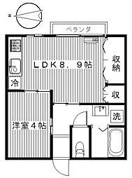 ハイツフレンド朝倉[2階]の間取り