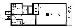 JR大阪環状線 寺田町駅 徒歩4分の賃貸マンション 11階1Kの間取り