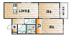 フレシール緑ヶ丘[3階]の間取り