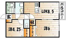 新築片野ハイツ[2階]の間取り