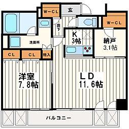KDX堺筋本町レジデンス[12階]の間取り