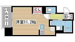 プライムレジデンス神戸県庁前[404号室]の間取り