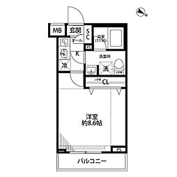 プレール・ドゥーク志村三丁目[206号室]の間取り