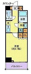 東京都江東区東陽7丁目の賃貸マンションの間取り