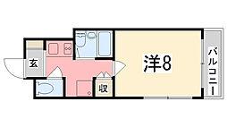 兵庫県姫路市飾磨区玉地1丁目の賃貸マンションの間取り
