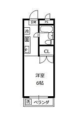サンアベニュー増島[102号室]の間取り