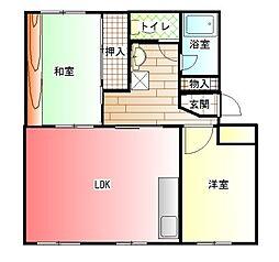 はぁーとマンション[102号室]の間取り