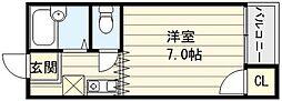 フジレジデンス新深江[5階]の間取り