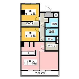 高杉ハイツ丹羽[1階]の間取り