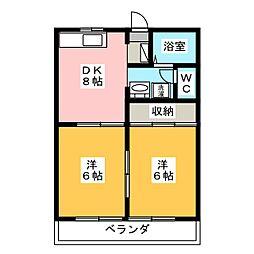 アニバーサリーK2[2階]の間取り