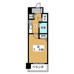 プレサンス京大南[3階]の間取り