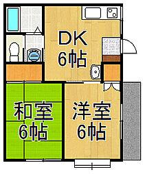 メゾン花田[2階]の間取り