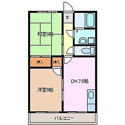 シティハウス生桑[2階]の間取り