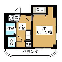 メゾン・ド・ピュア[1階]の間取り