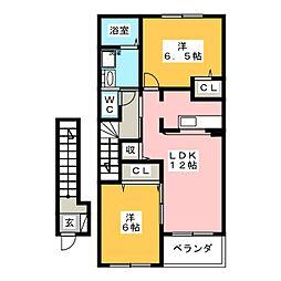ファースト・ベル[2階]の間取り