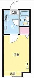 千葉県松戸市小金の賃貸アパートの間取り