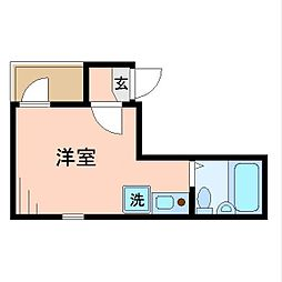 東京都江東区北砂3丁目の賃貸アパートの間取り